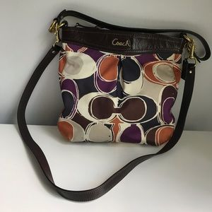 Coach Signature Cross-body - Purple/Brown/Orange